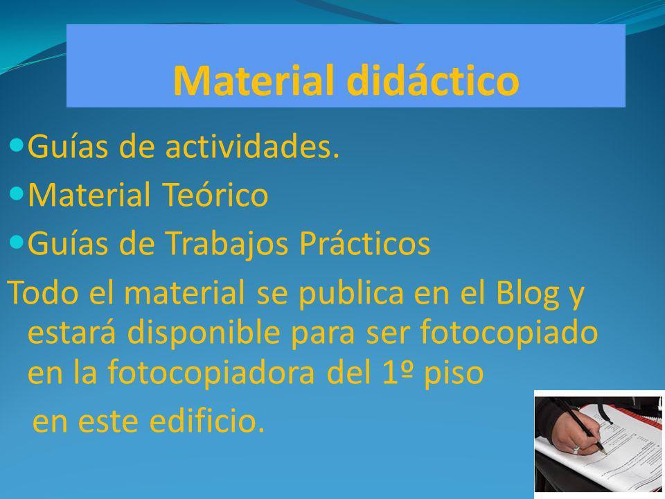 Material didáctico Guías de actividades. Material Teórico