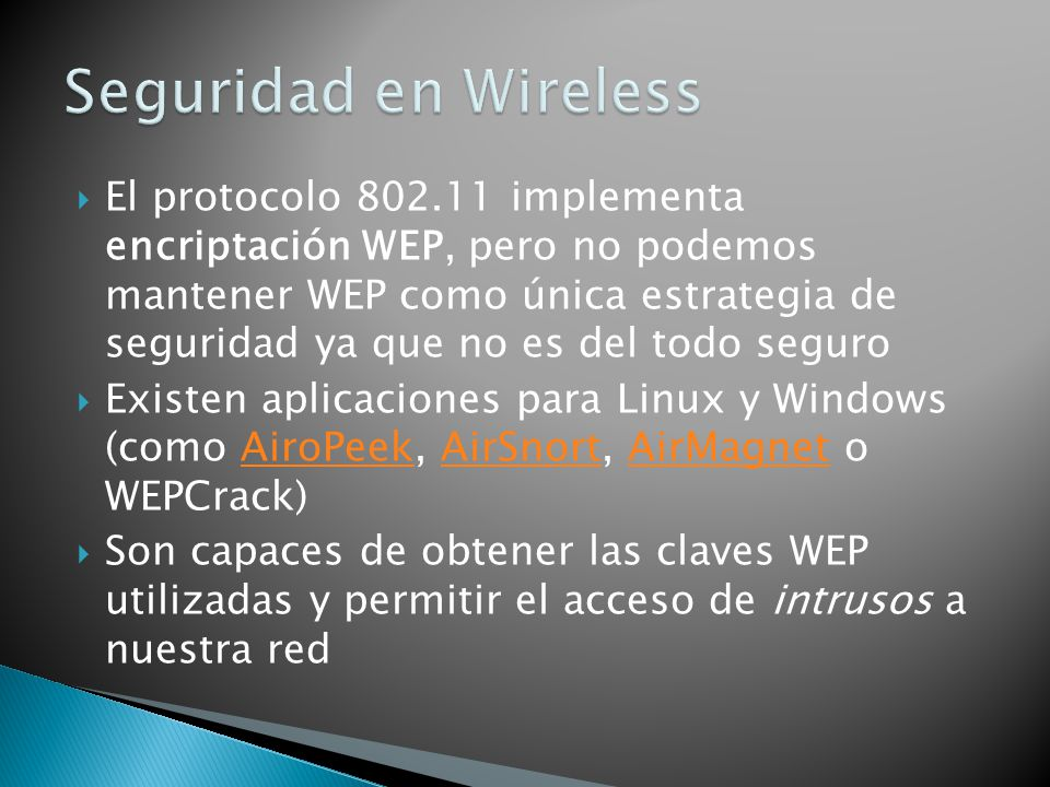Seguridad en Wireless