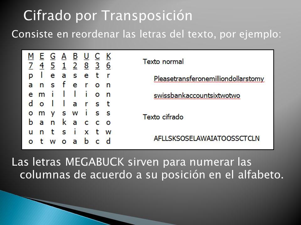 Cifrado por Transposición