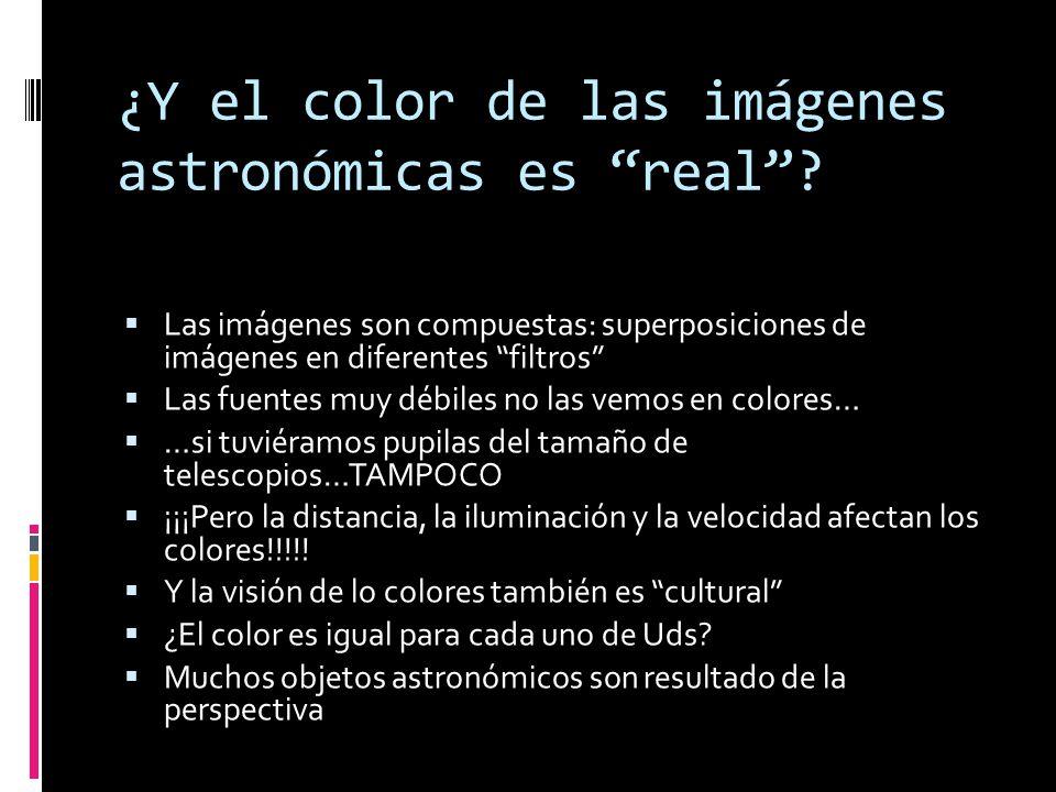 ¿Y el color de las imágenes astronómicas es real