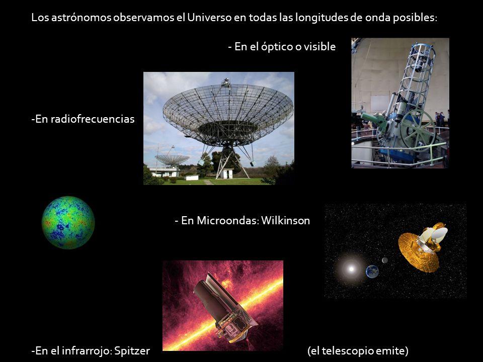 Los astrónomos observamos el Universo en todas las longitudes de onda posibles: