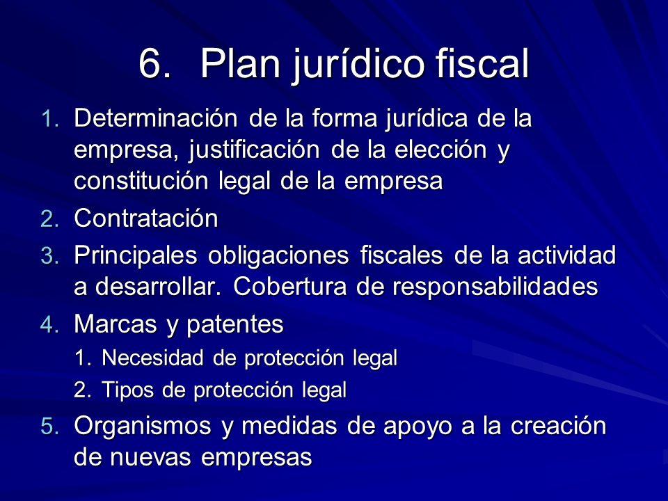 Plan jurídico fiscalDeterminación de la forma jurídica de la empresa, justificación de la elección y constitución legal de la empresa.