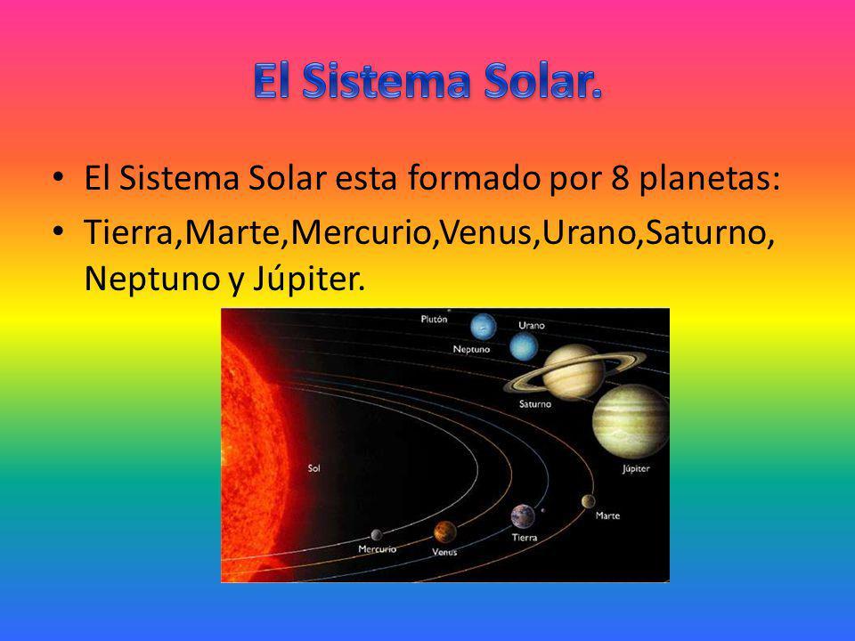 El Sistema Solar. El Sistema Solar esta formado por 8 planetas: