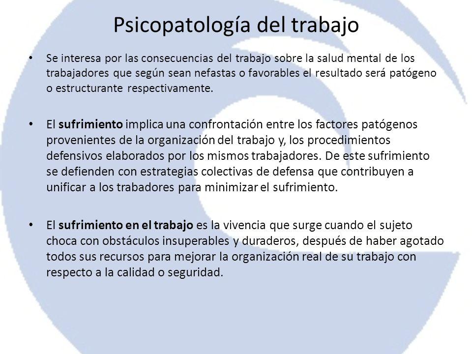 Psicopatología del trabajo
