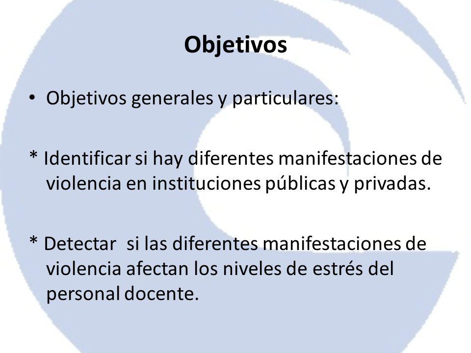 Objetivos Objetivos generales y particulares: