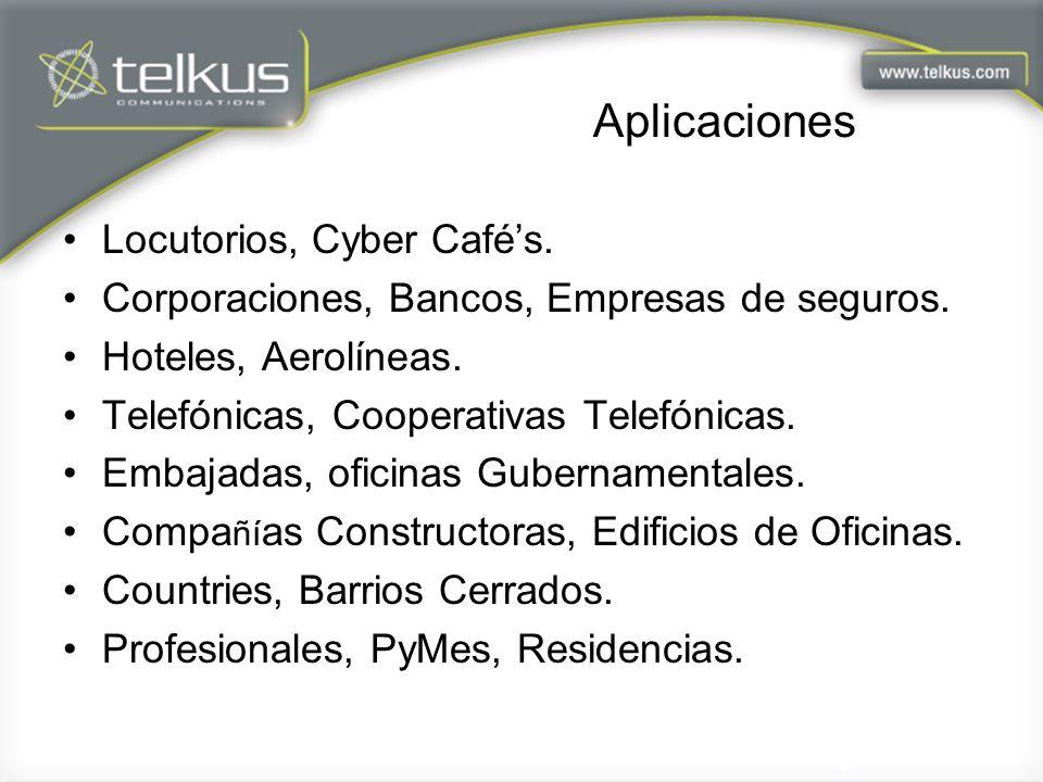 Aplicaciones Locutorios, Cyber Café's.