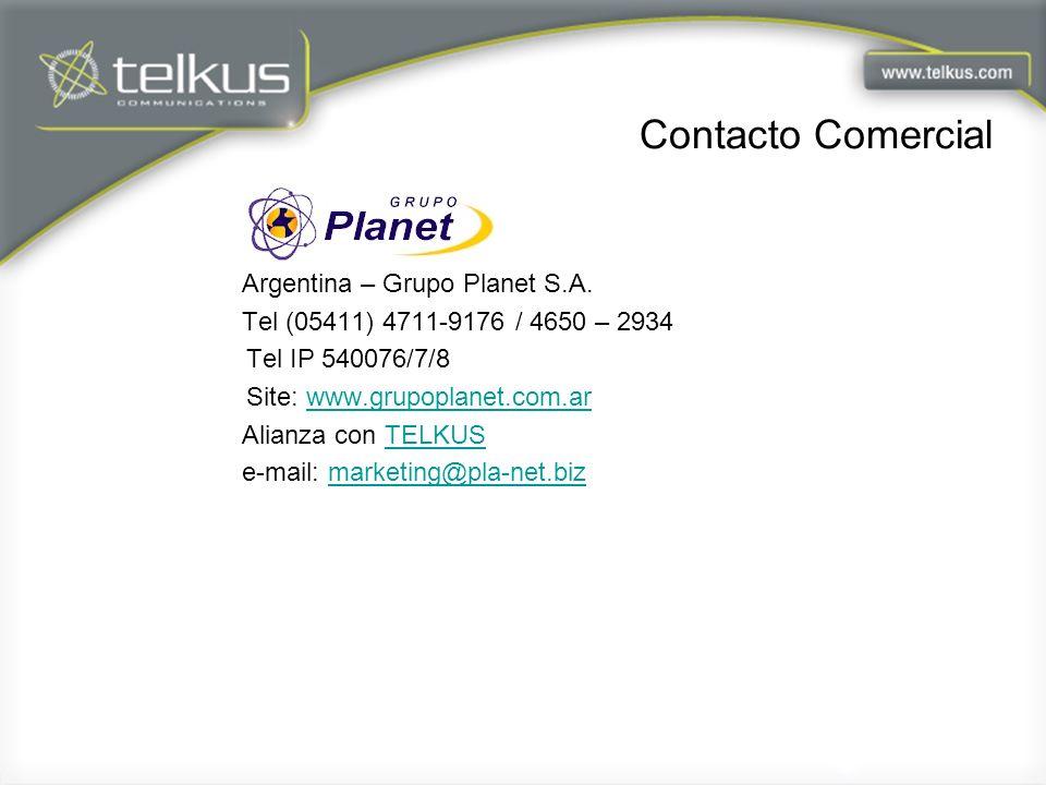 Contacto Comercial Argentina – Grupo Planet S.A.