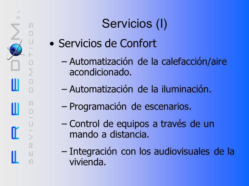 Servicios (I) Servicios de Confort