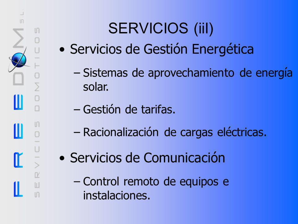 SERVICIOS (iiI) Servicios de Gestión Energética