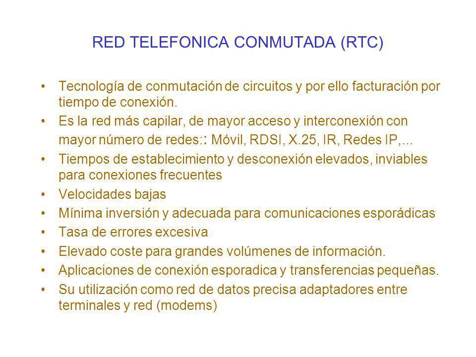 RED TELEFONICA CONMUTADA (RTC)