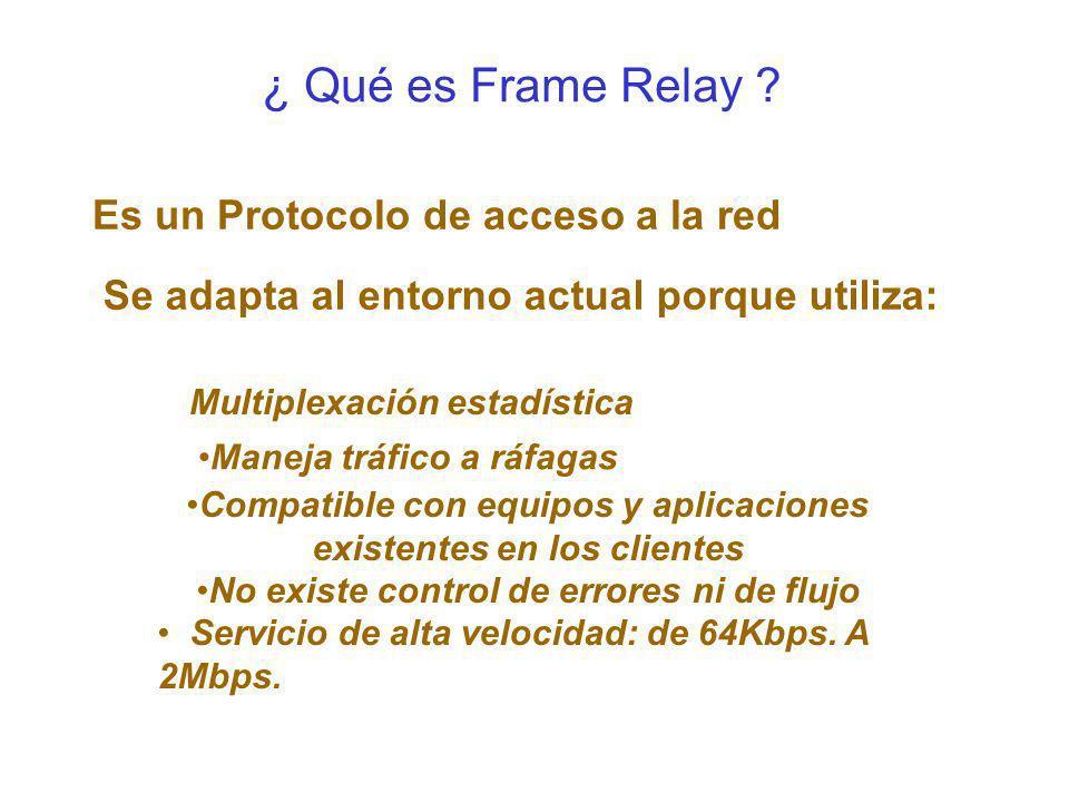 ¿ Qué es Frame Relay Es un Protocolo de acceso a la red