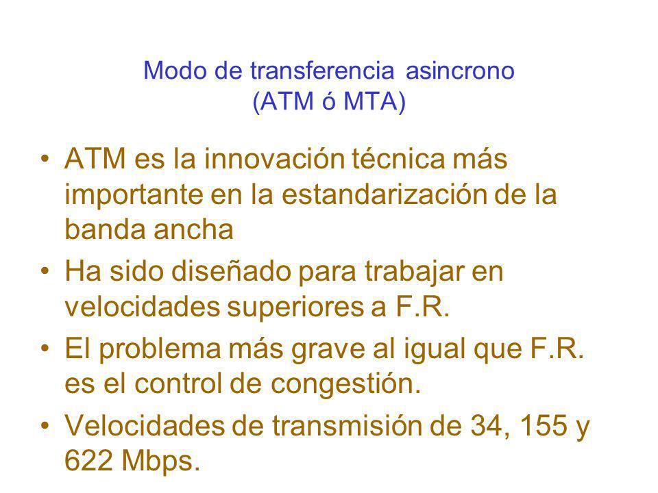 Modo de transferencia asincrono (ATM ó MTA)