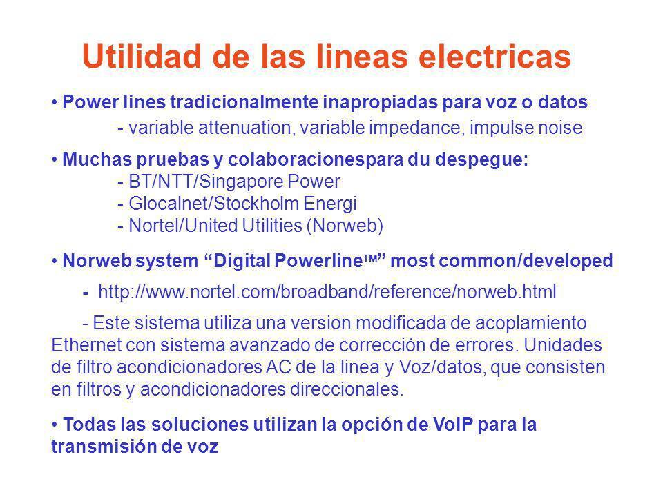 Utilidad de las lineas electricas