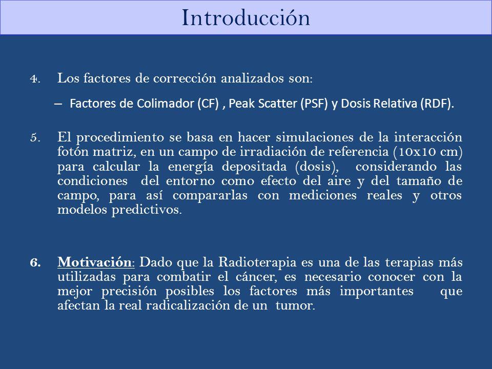 Introducción Los factores de corrección analizados son: