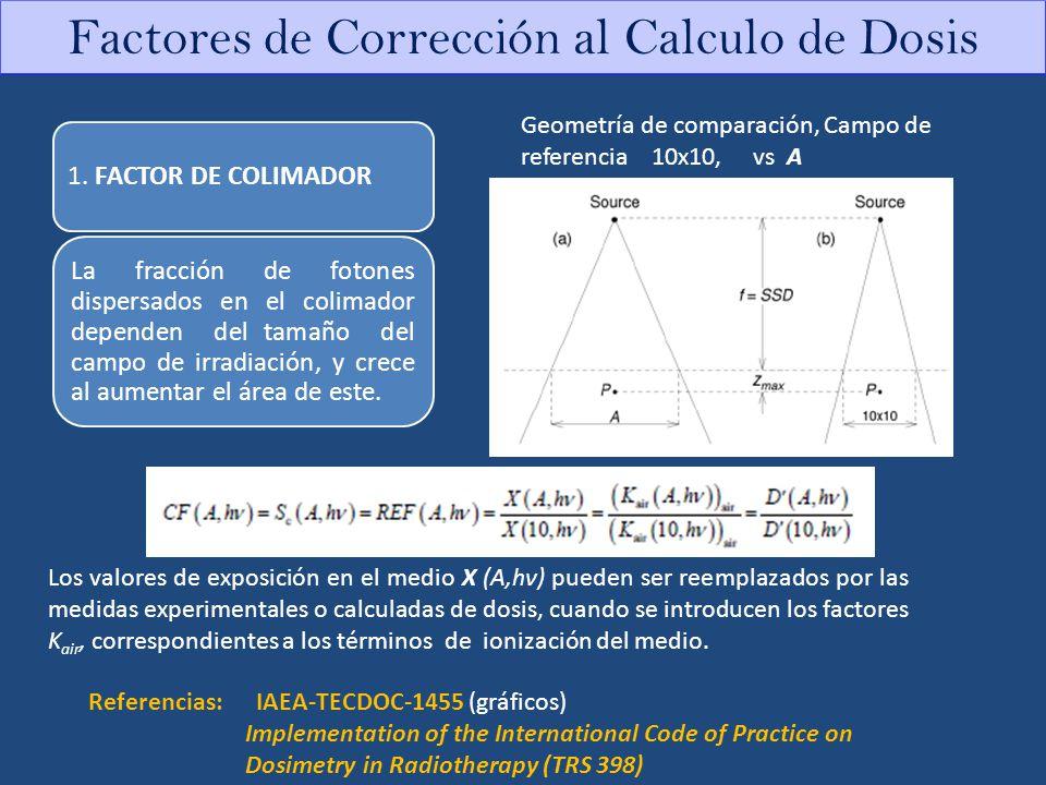 Factores de Corrección al Calculo de Dosis