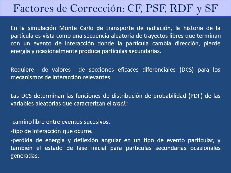 Factores de Corrección: CF, PSF, RDF y SF
