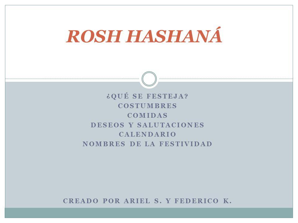 Nombres de la festividad Creado por Ariel S. y Federico K.