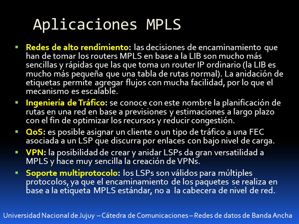 Aplicaciones MPLS