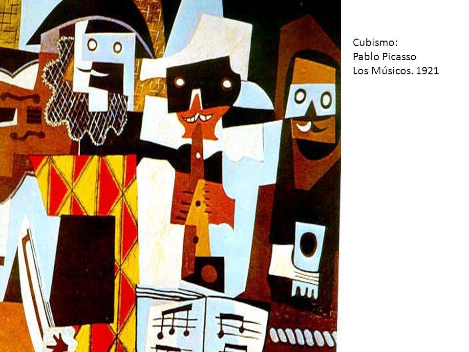 Cubismo: Pablo Picasso Los Músicos. 1921