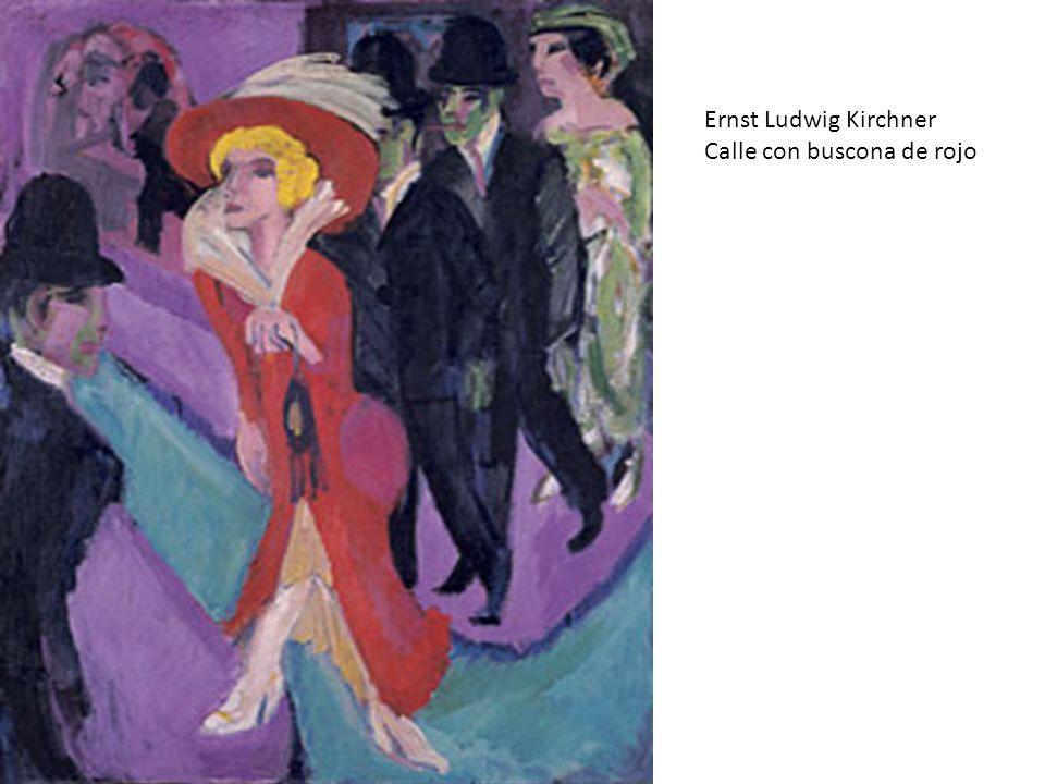 Ernst Ludwig Kirchner Calle con buscona de rojo