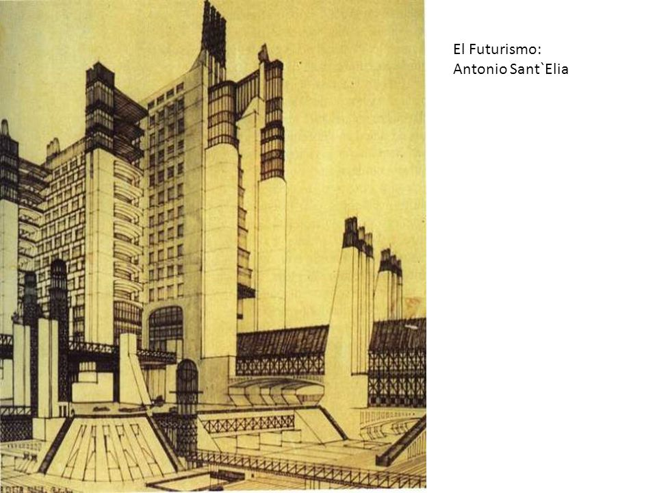 El Futurismo: Antonio Sant`Elia