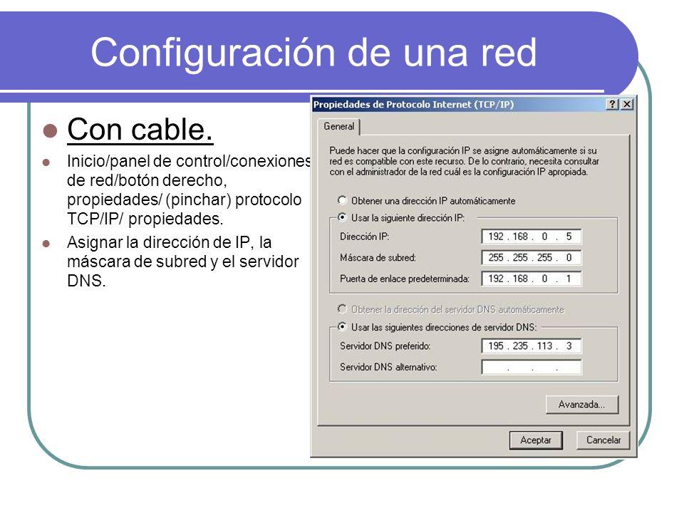 Configuración de una red