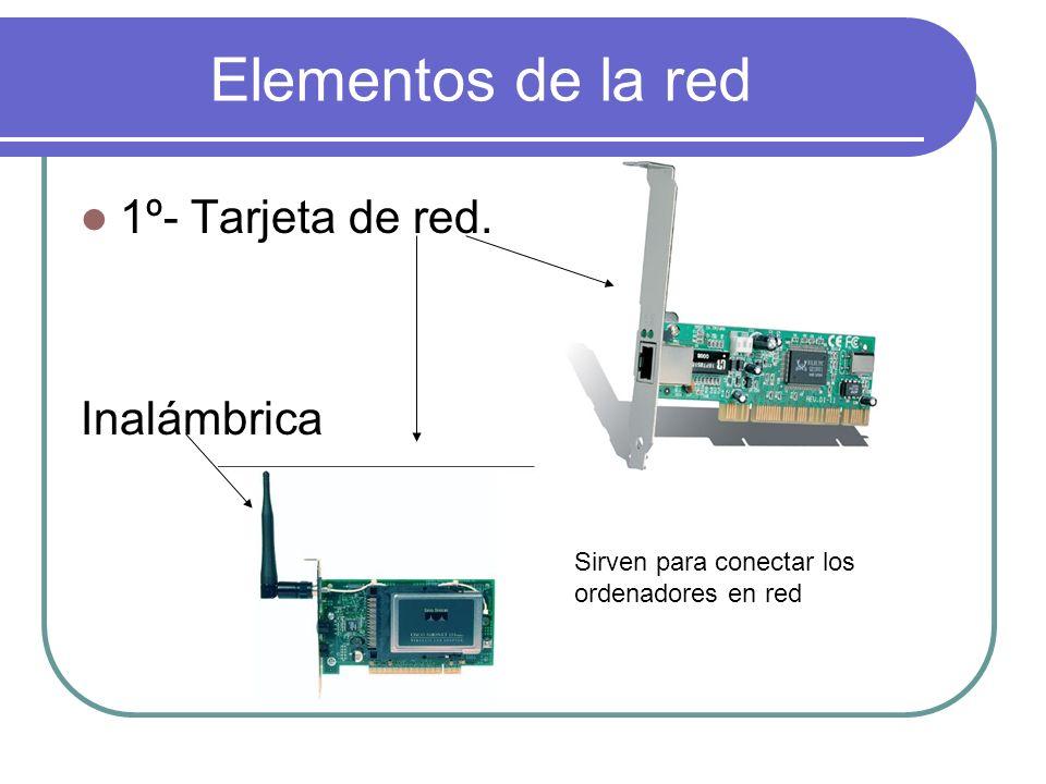 Elementos de la red 1º- Tarjeta de red. Inalámbrica