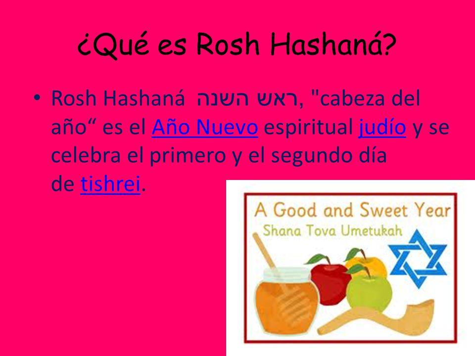 ¿Qué es Rosh Hashaná.
