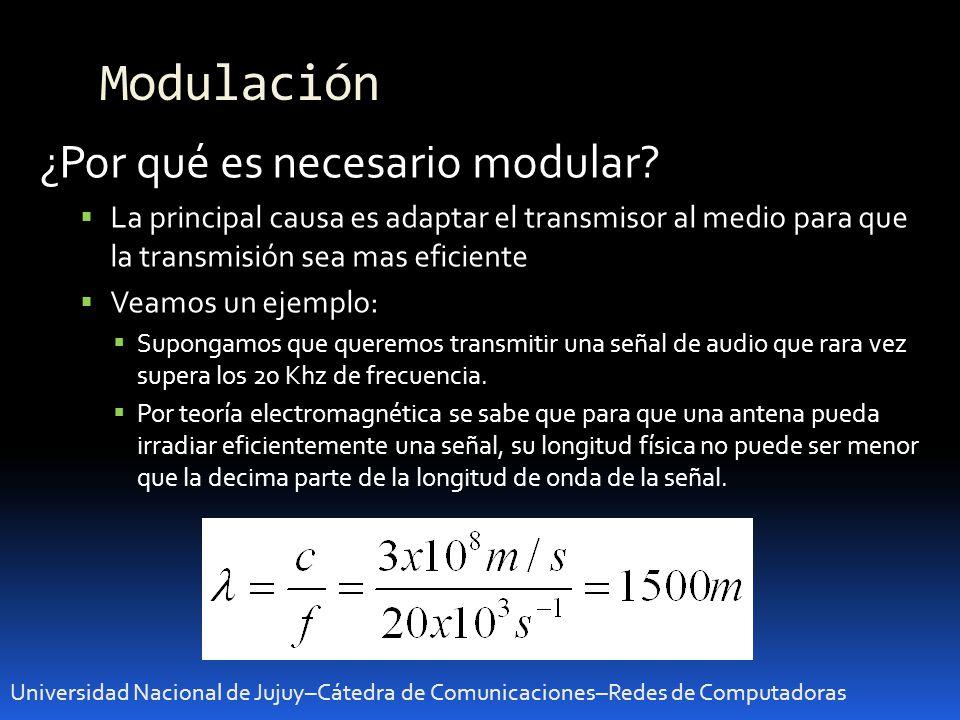 Modulación ¿Por qué es necesario modular