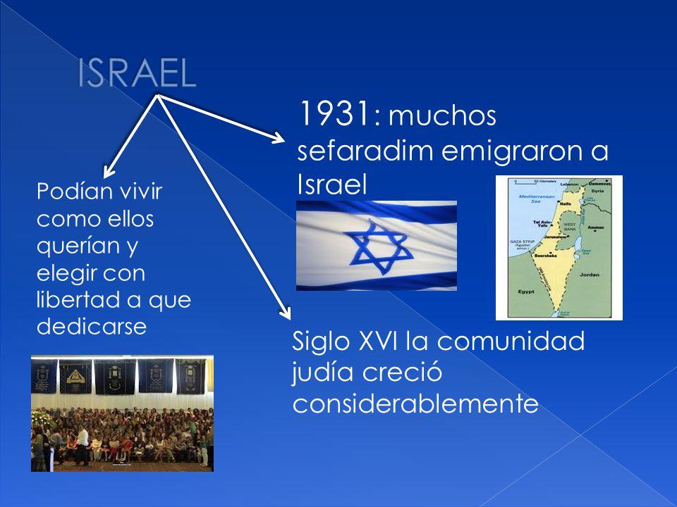 ISRAEL 1931: muchos sefaradim emigraron a Israel