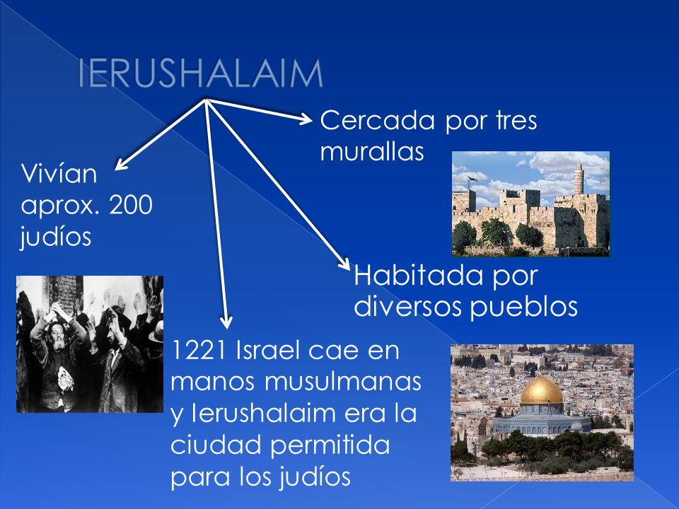 IERUSHALAIM Habitada por diversos pueblos Cercada por tres murallas
