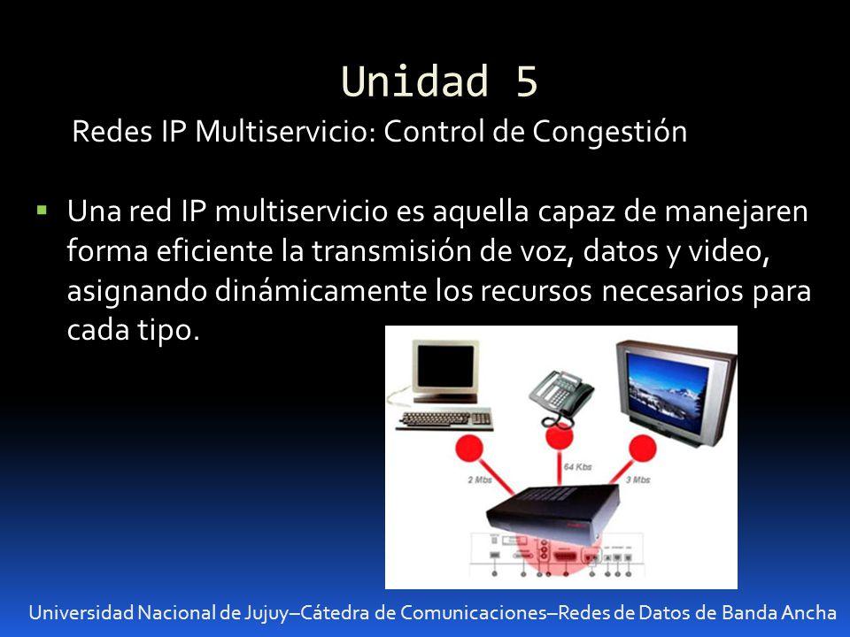 Unidad 5 Redes IP Multiservicio: Control de Congestión