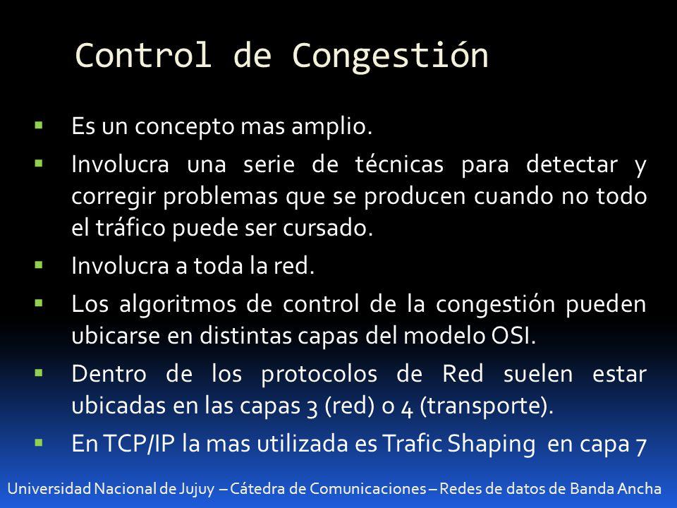 Control de Congestión Es un concepto mas amplio.