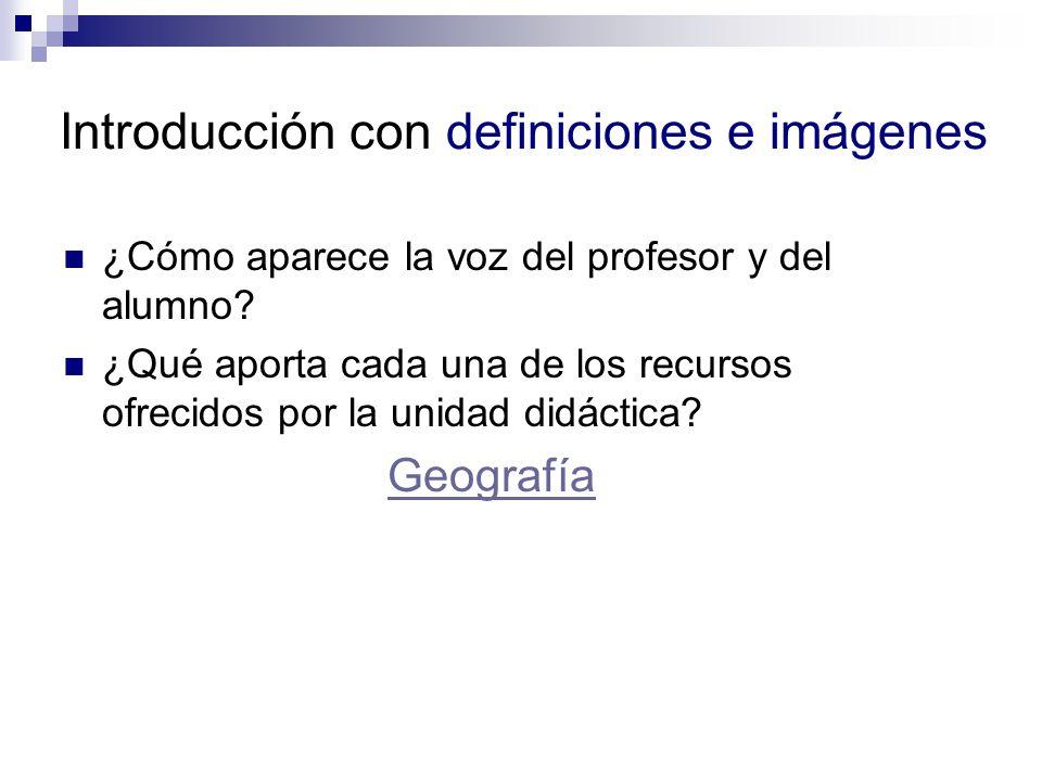 Introducción con definiciones e imágenes