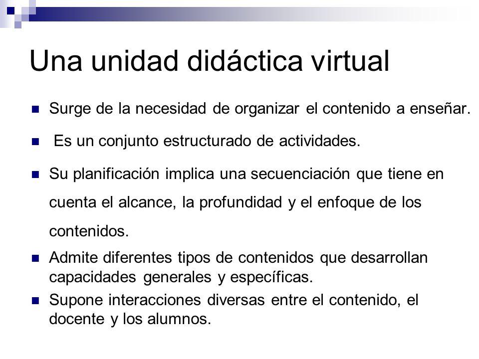 Una unidad didáctica virtual
