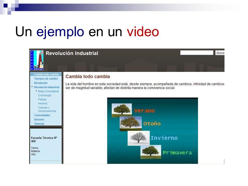 Un ejemplo en un video Técnica de correlación con la realidad
