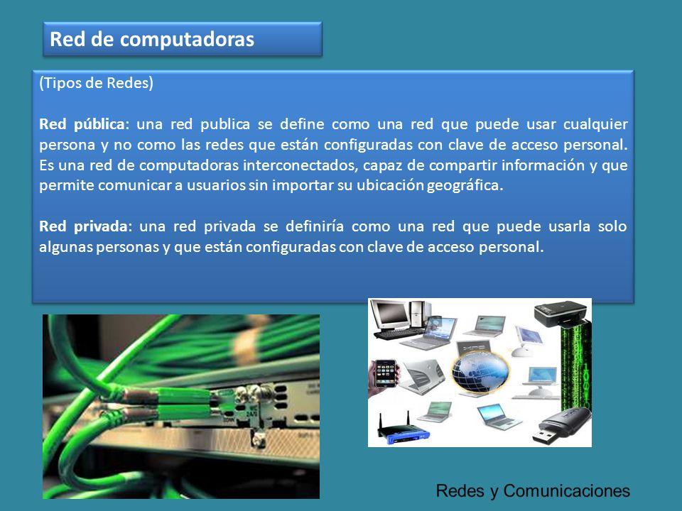 Red de computadoras (Tipos de Redes)