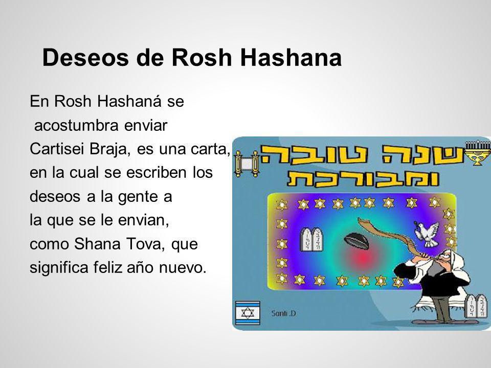 Deseos de Rosh Hashana En Rosh Hashaná se acostumbra enviar