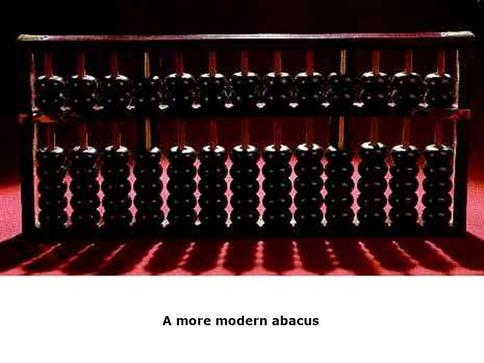 A more modern abacus