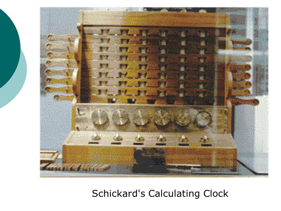 Schickard s Calculating Clock