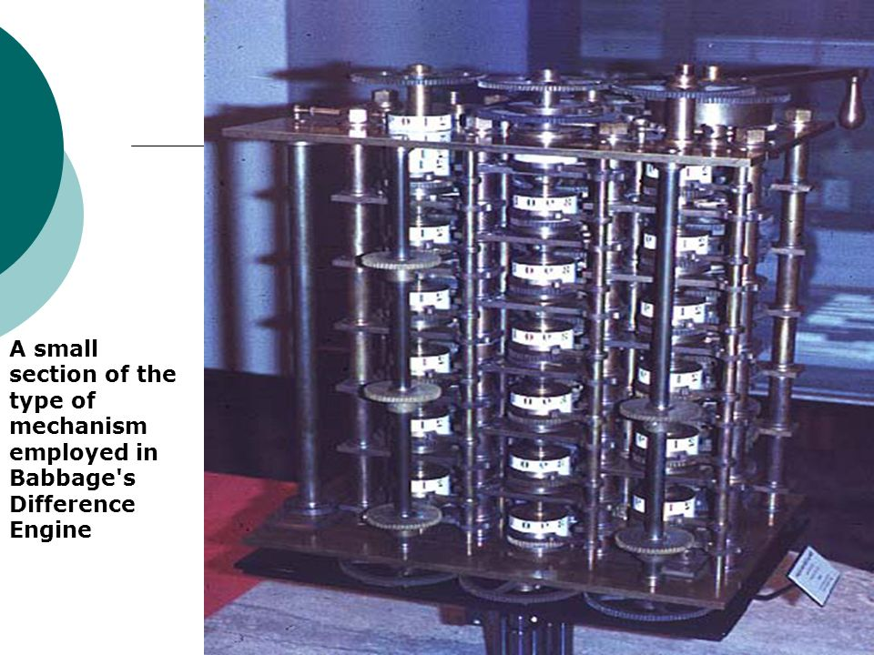A small section of the type of mechanism employed in Babbage s Difference Engine