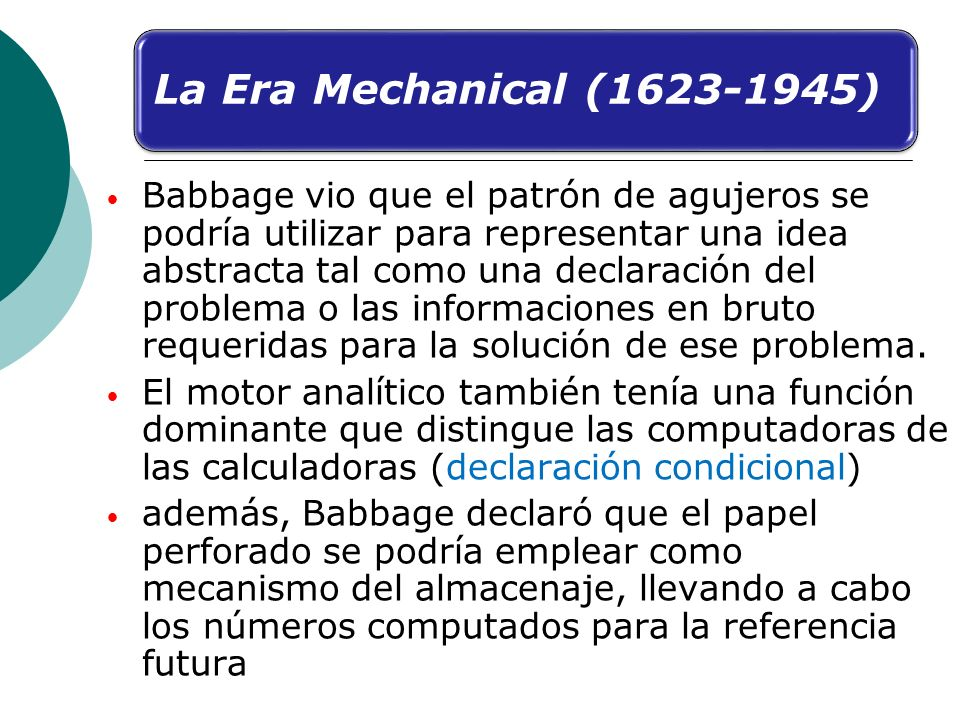 La Era Mechanical (1623-1945)