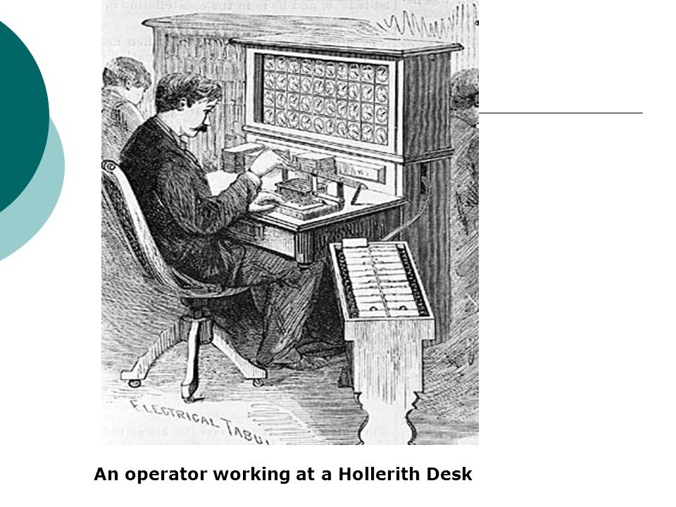 An operator working at a Hollerith Desk