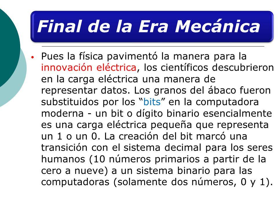 Final de la Era Mecánica