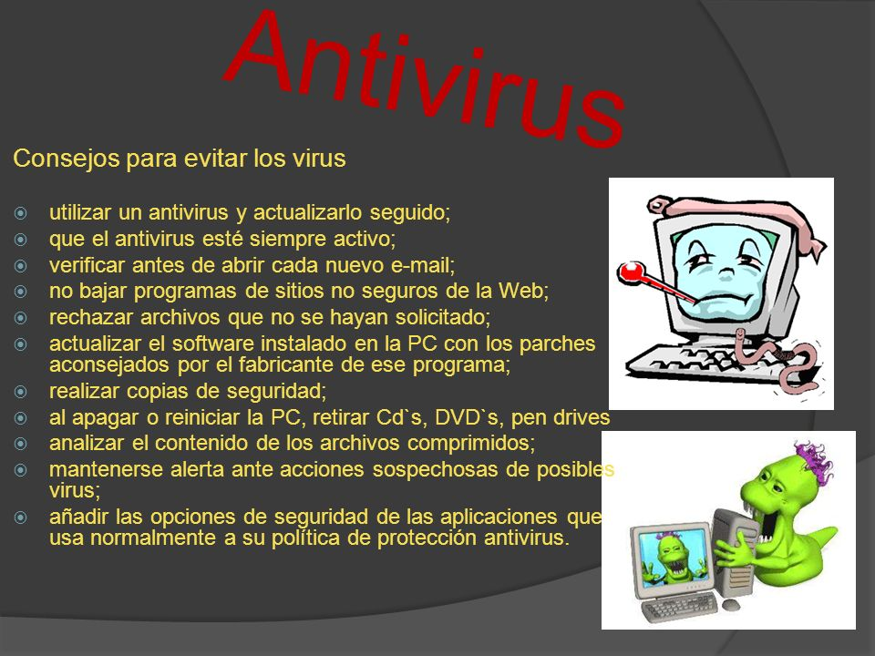 Antivirus Consejos para evitar los virus