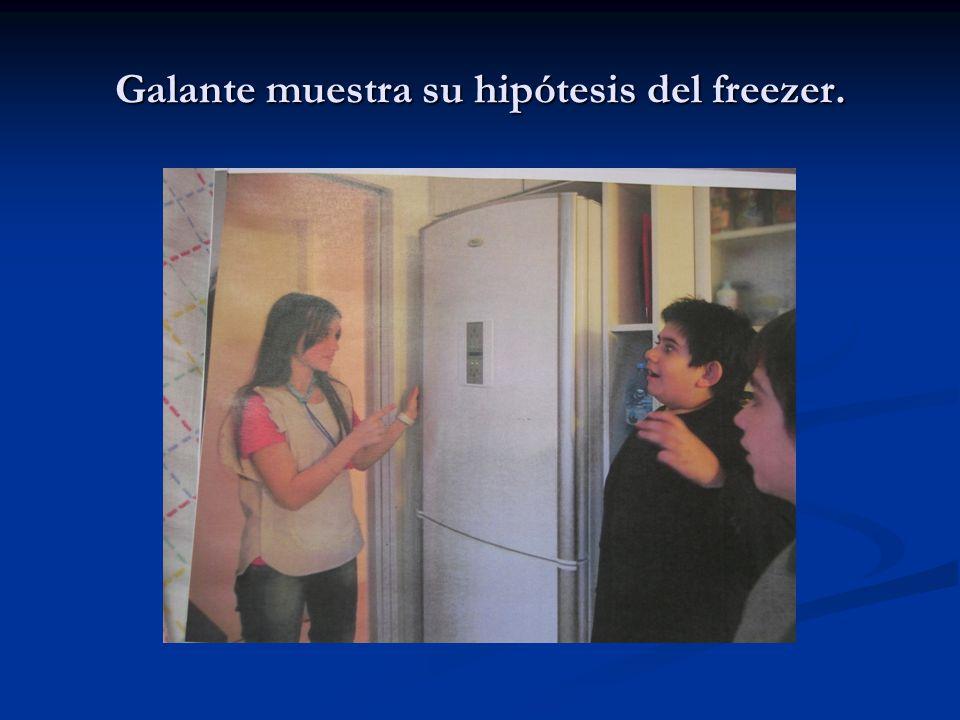 Galante muestra su hipótesis del freezer.