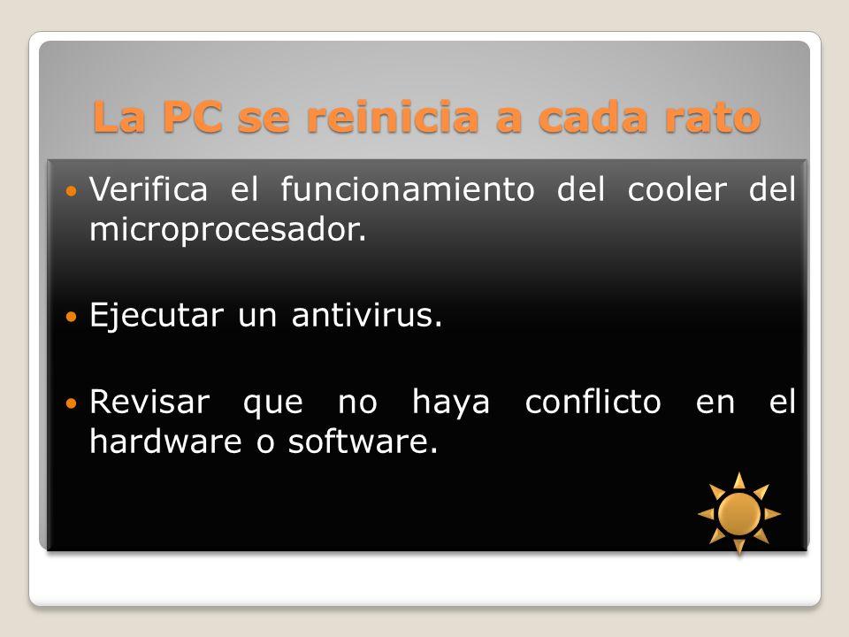 La PC se reinicia a cada rato