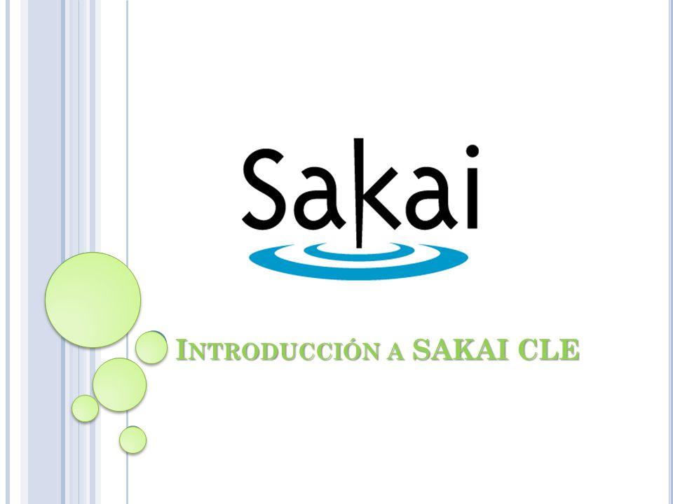 Introducción a SAKAI CLE