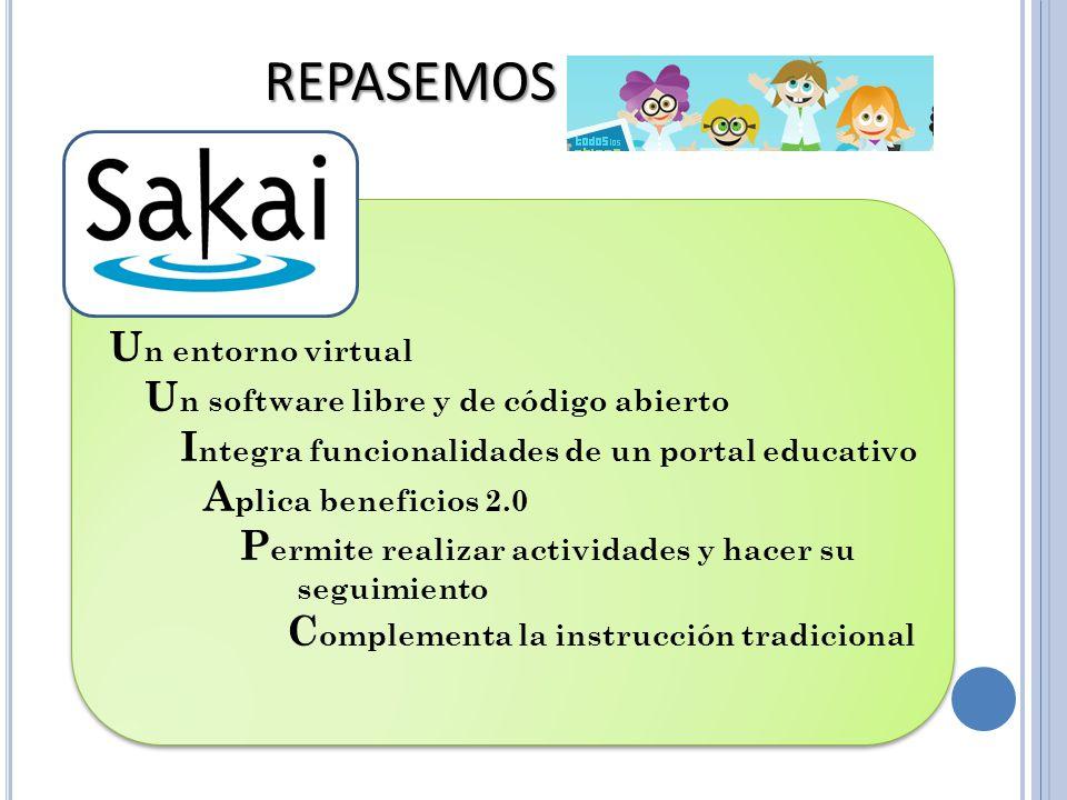 REPASEMOS Un entorno virtual Un software libre y de código abierto