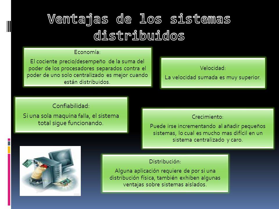 Ventajas de los sistemas distribuidos